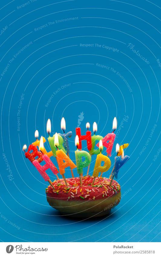 #A# Happy Burning Kunst ästhetisch Krapfen Happy Birthday Geburtstag Geburtstagstorte Geburtstagsgeschenk Geburtstagswunsch Kerze Wunsch Gratulation