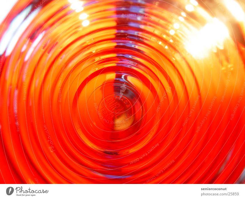 Blick ins Glas Kerze Licht Fernseher Reflexion & Spiegelung Makroaufnahme Nahaufnahme