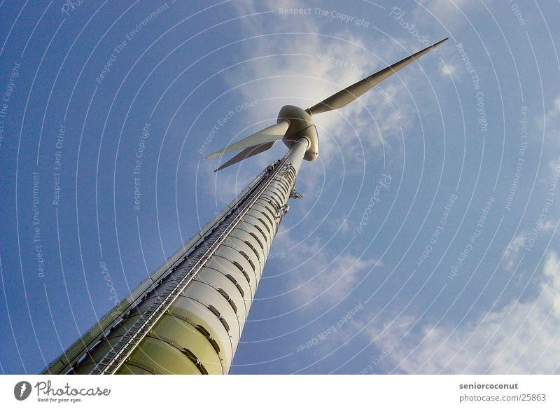 Energie 2 Windkraftanlage Wolken Elektrisches Gerät Technik & Technologie Wetter Himmel