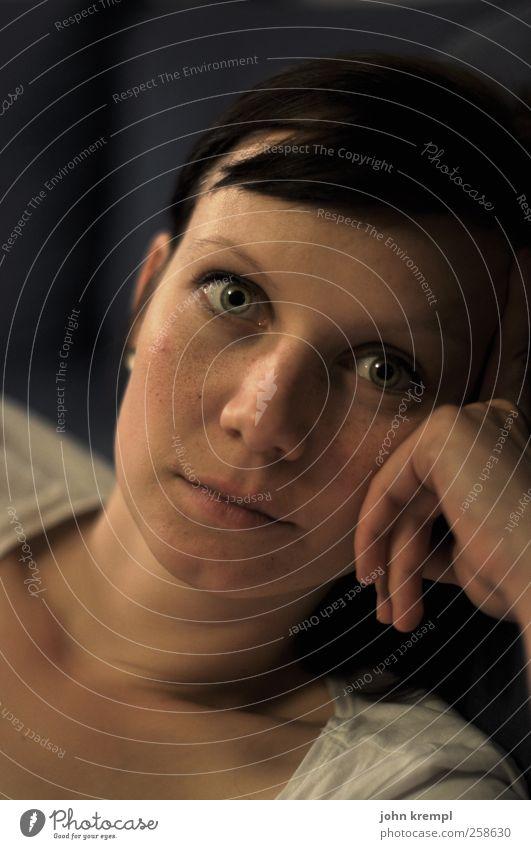 Hypnotiseuserin Mensch feminin Junge Frau Jugendliche Gesicht Auge 1 18-30 Jahre Erwachsene beobachten Blick Neugier schön Coolness Schutz Geborgenheit