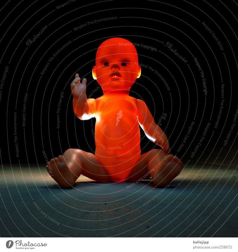 orakel Mensch Kind Baby Kindheit Leben Körper Haut Kopf Gesicht Auge 1 0-12 Monate Denken Orakel zeigen Puppe Spielzeug Erkenntnis Beleuchtung Wahrheit Hand