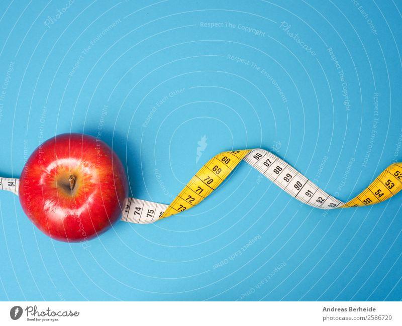 Ein Apfel am Tag Frucht Bioprodukte Vegetarische Ernährung Diät Fasten Lifestyle Gesunde Ernährung Übergewicht Weihnachten & Advent Maßband Fitness gelb rot