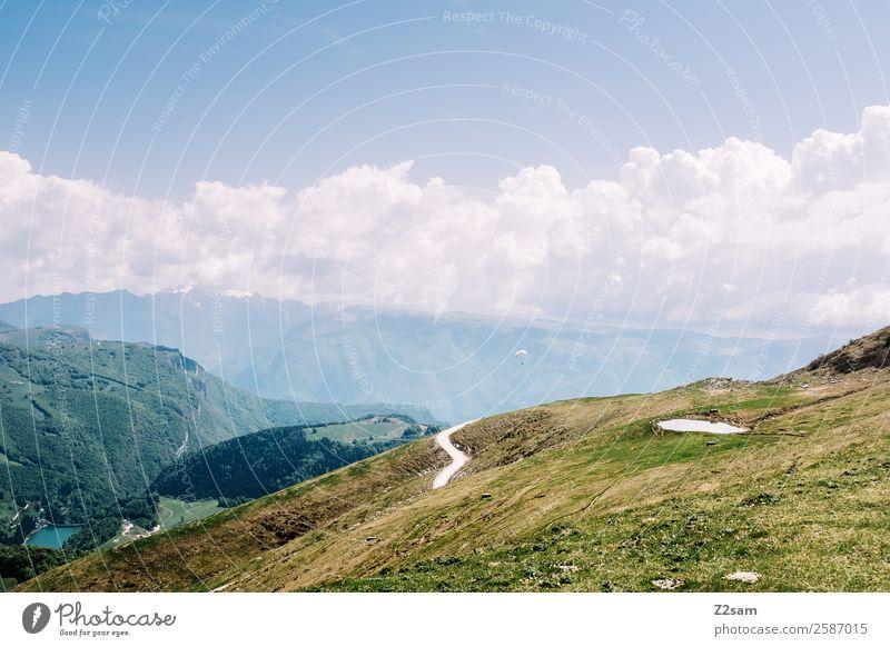 Monte Baldo | Gardasee Umwelt Natur Landschaft Himmel Wolken Sommer Schönes Wetter Gras Alpen Berge u. Gebirge Gipfel nachhaltig natürlich blau grün ruhig