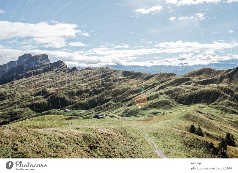 Hoch-Ybrig Umwelt Natur Landschaft Sommer Schönes Wetter Alpen Berge u. Gebirge natürlich blau grün Tourismus Schweiz Wanderausflug Farbfoto mehrfarbig