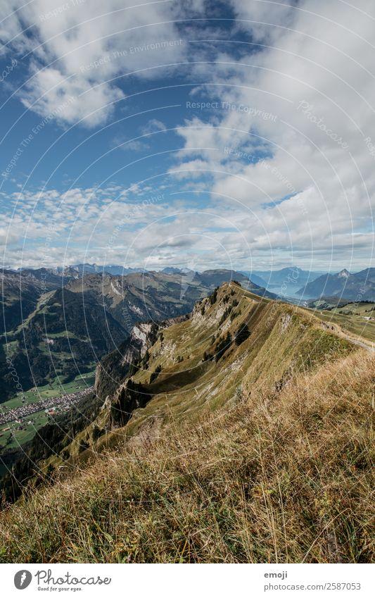 Aussicht ins Muotathal Umwelt Natur Landschaft Sommer Schönes Wetter Alpen Berge u. Gebirge natürlich blau grün Tourismus Schweiz Hoch-Ybrig Vierwaldstätter See