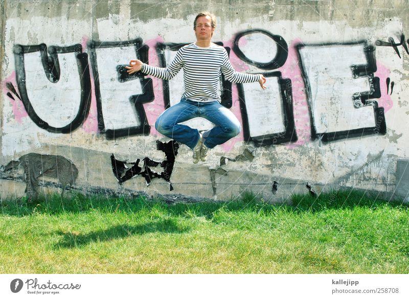 mach mal ne pause! Mensch Mann ruhig Erwachsene Erholung Leben Graffiti springen Gesundheit Körper Zufriedenheit Freizeit & Hobby maskulin Lifestyle Wellness