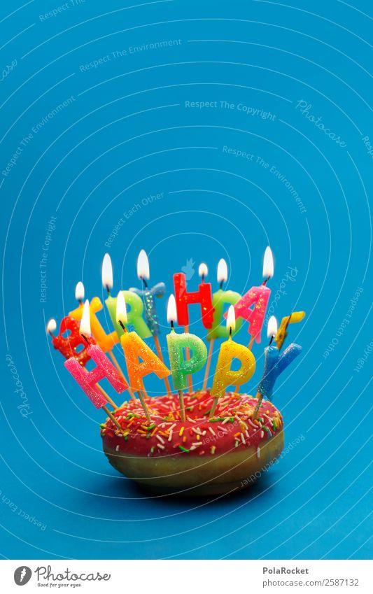 #A# Quite Happy Kunst Zufriedenheit Design Freude genießen Kitsch Optimismus Gefühle Emotiondesign Krapfen Geburtstag Geburtstagstorte Geburtstagswunsch