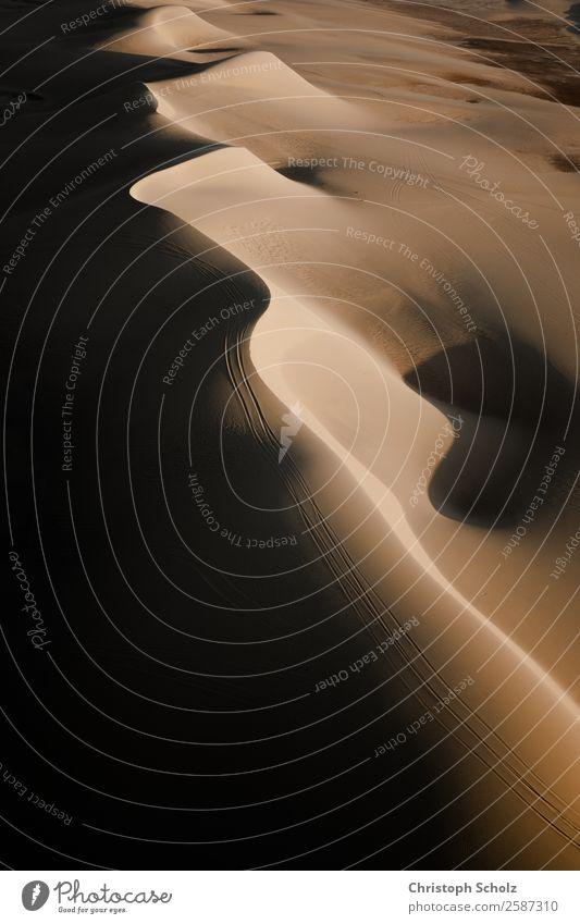 Dünen Ferien & Urlaub & Reisen Ausflug Abenteuer Ferne Freiheit Safari Expedition Wellen Natur Landschaft Erde Sand Sommer Klima Klimawandel Wärme Dürre Wüste