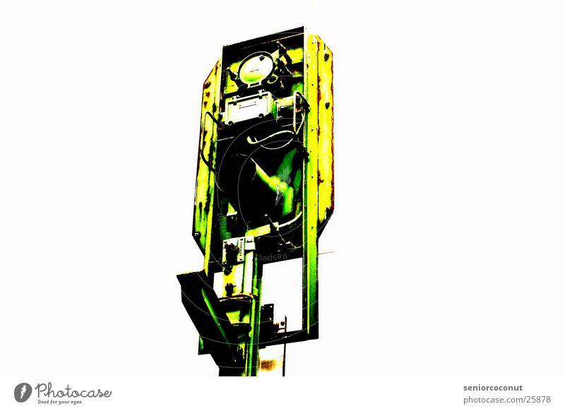 Signal grün Metall Eisenbahn Signal Fototechnik