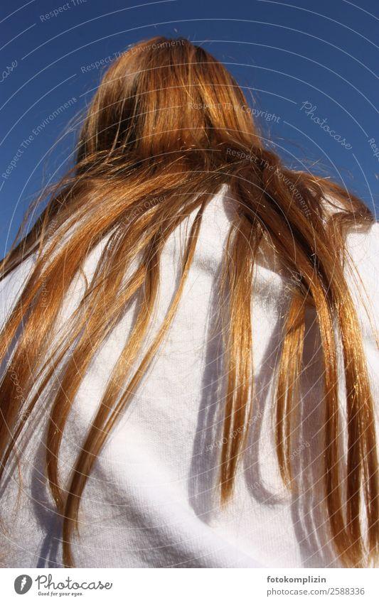 rote haare Mensch Einsamkeit außergewöhnlich Haare & Frisuren träumen Fröhlichkeit Perspektive warten einzigartig beobachten Gelassenheit Körperpflege