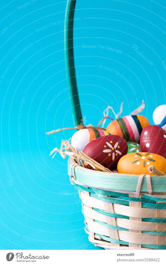 Ferien & Urlaub & Reisen Farbe Blume Hintergrundbild Holz Feste & Feiern Dekoration & Verzierung Ostern Tradition Ei Feiertag festlich Korb Gast gebastelt