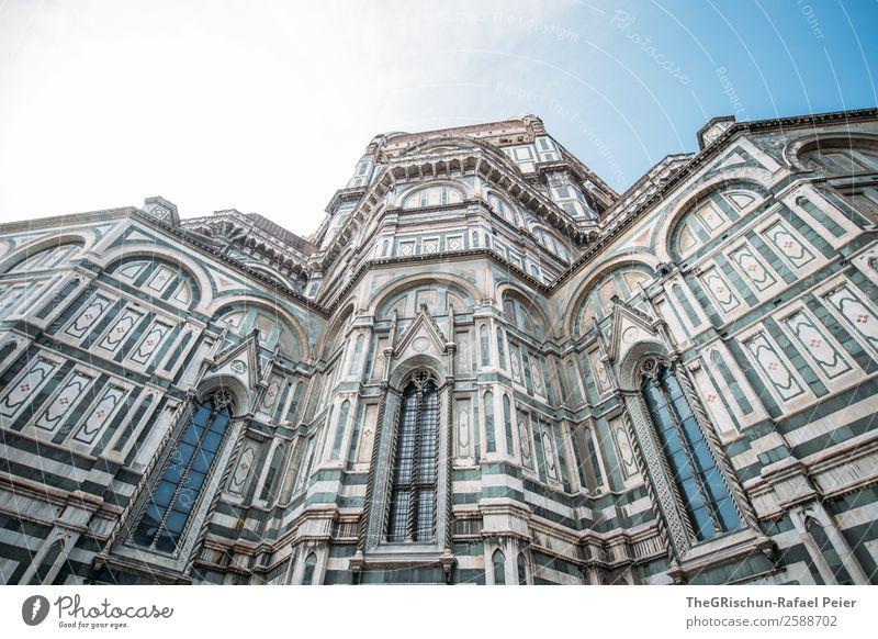 Dom - Florenz Stadt alt Santa Maria del Fiore Kathedrale Gebäude Kirche Fenster Detailaufnahme Religion & Glaube Italien Himmel Farbfoto Außenaufnahme