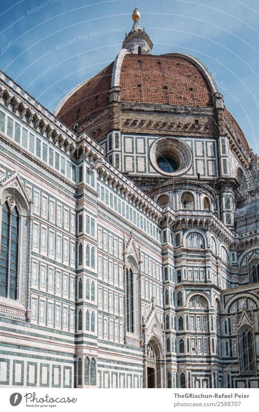Florenz Stadt blau braun Kathedrale Santa Maria del Fiore Italien geschätzt touristisch Tourist Tourismus Kirche Religion & Glaube Detailaufnahme Kunstwerk