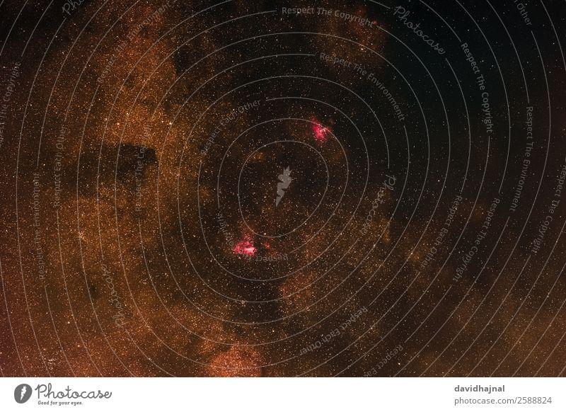 Omega und Adlernebel Technik & Technologie Wissenschaften Fortschritt Zukunft High-Tech Astronomie Umwelt Natur Himmel nur Himmel Wolkenloser Himmel Sommer