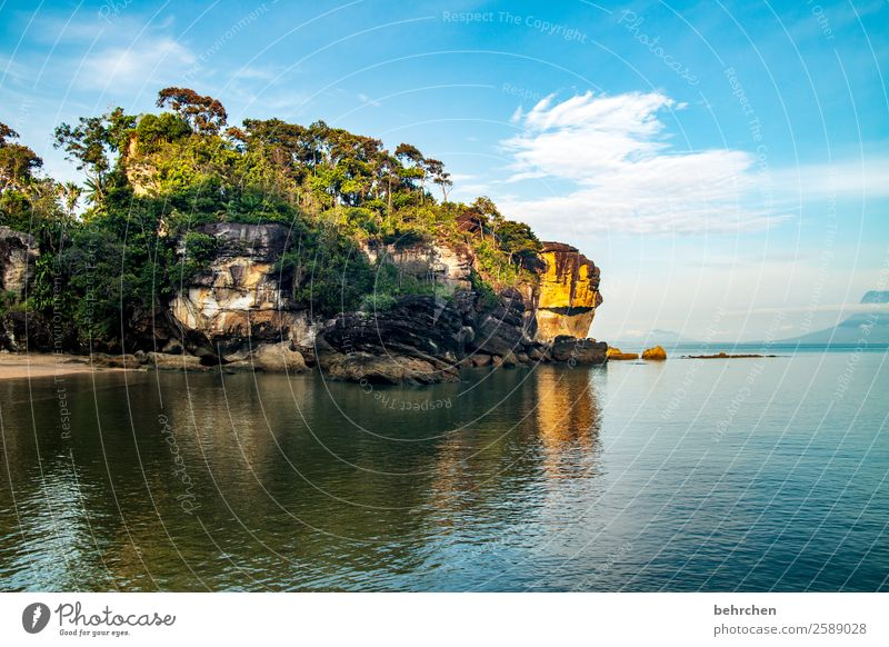 träume (er)leben Ferien & Urlaub & Reisen Tourismus Ausflug Abenteuer Ferne Freiheit Natur Landschaft Himmel Horizont Baum Felsen Wellen Küste Strand Bucht Meer