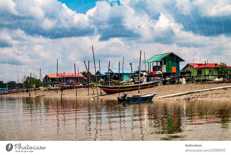 berufsstand Ferien & Urlaub & Reisen Tourismus Ausflug Abenteuer Ferne Freiheit Umwelt Natur Landschaft Wasser Himmel Wolken Wellen Flussufer Meer Dorf