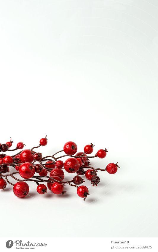 Weihnachtsschmuck auf weißem Hintergrund elegant Stil Design Freude Winter Feste & Feiern Weihnachten & Advent Silvester u. Neujahr Ball Baum Spielzeug Kerze