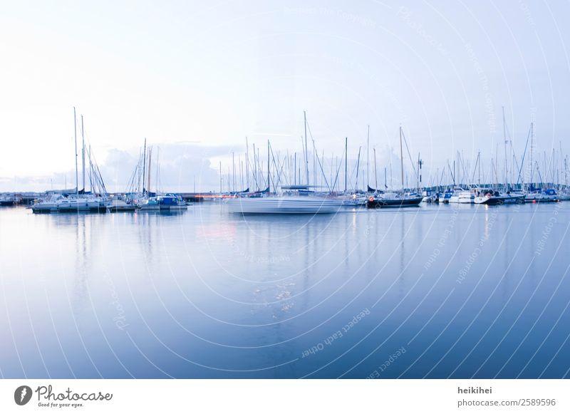 Blaue Stunde am Yachthafen von Stralsund Freude Freizeit & Hobby Ferien & Urlaub & Reisen Tourismus Ausflug Abenteuer Ferne Freiheit Sightseeing Sommer