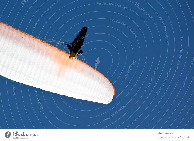 Ikarus 3 Mensch blau weiß Ferien & Urlaub & Reisen Sommer Freude Ferne Freiheit fliegen frei Abenteuer Perspektive Schönes Wetter Sehnsucht Lebensfreude