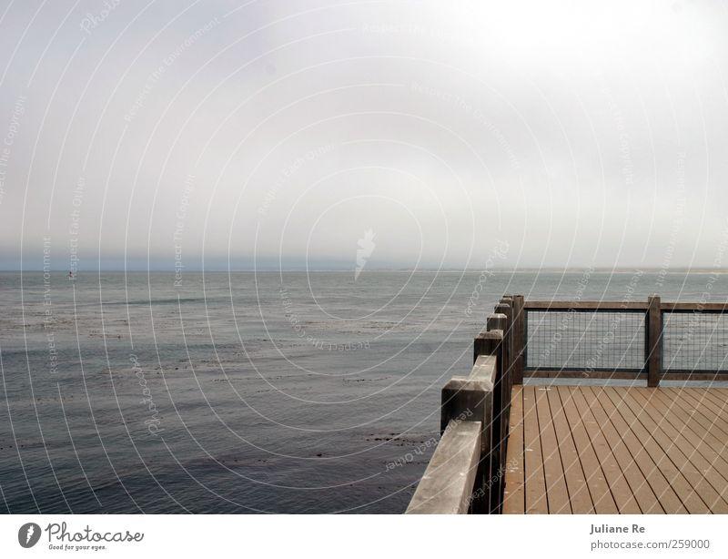 Ausblick | Am Wasser Himmel Natur Ferien & Urlaub & Reisen Sommer Erholung Meer ruhig Wolken Ferne Umwelt Küste Denken Schwimmen & Baden Wetter elegant