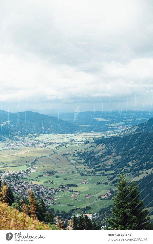 Blick vom Laber Richtung Oberammergau Ferien & Urlaub & Reisen Sommer Landschaft Erholung Freude Ferne Berge u. Gebirge Glück Tourismus Freiheit Felsen Ausflug