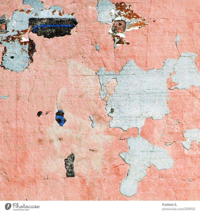 Muro alt schwarz Farbe Wand grau Stein Mauer rosa Verfall Putz Leichtigkeit