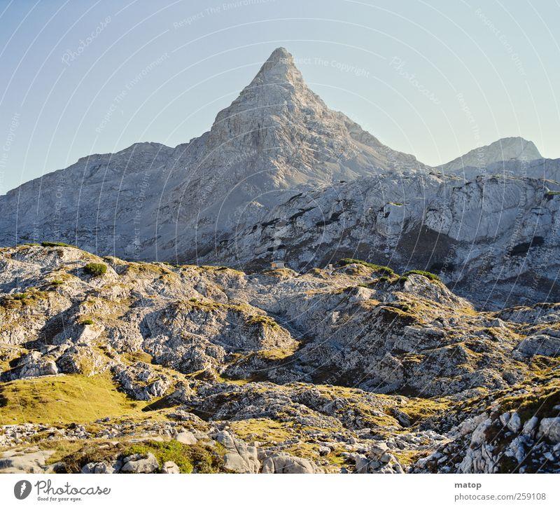 Magic Mountain Ferien & Urlaub & Reisen Berge u. Gebirge Klettern Bergsteigen Natur Landschaft Himmel Wolkenloser Himmel Klimawandel Schönes Wetter Felsen Alpen