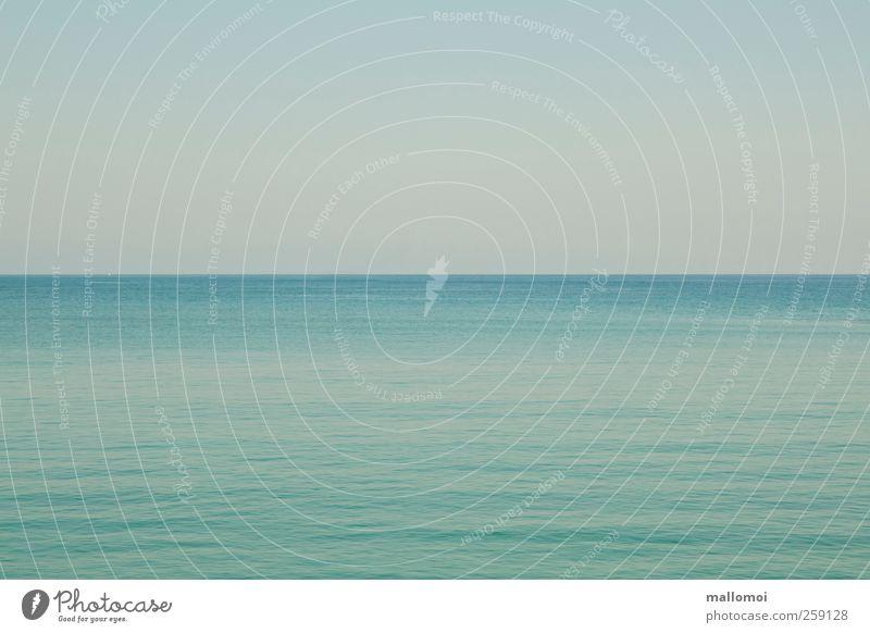 Unendlichkeit Himmel Natur blau Wasser Meer ruhig Ferne Leben Umwelt Küste träumen See Wetter Horizont Wellen Zufriedenheit