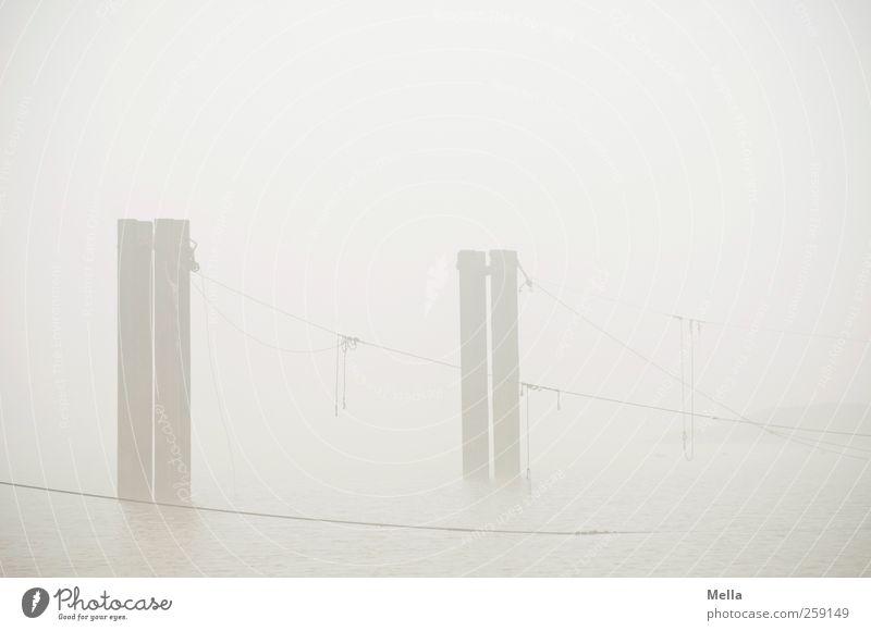 The Fog Natur Wasser Meer Umwelt Landschaft grau Küste hell Nebel Seil trist Nordsee fest Schnur hängen Tradition