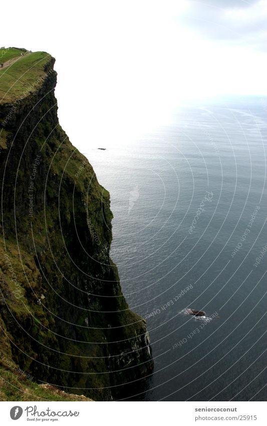 Cliffs of Moher Küste Meer Brandung Europa Republik Irland Wasser hoch Sonne Eire Grass Stein Felsen