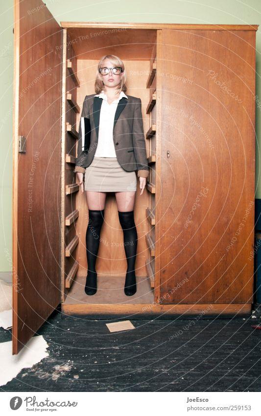 #259153 Frau schön Erwachsene dunkel Stil Büro Mode Arbeit & Erwerbstätigkeit warten verrückt Studium stehen Bildung verstecken Unternehmen trendy