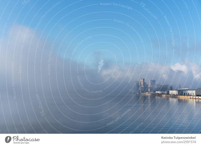 The Hafen of Trois-Rivières in morgendlichen Nebel Industrie Umwelt Natur Landschaft Wasser Sonnenaufgang Sonnenuntergang Herbst Blitze Wellen Küste Fabrik