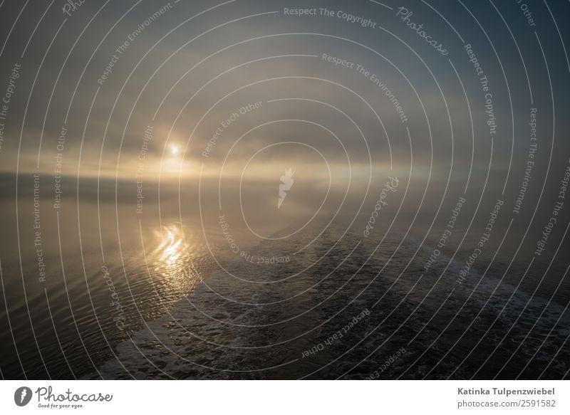 Morgenstimmung am Saguenay Fjord while a shipsreise Umwelt Natur Landschaft Wasser Sonnenaufgang Sonnenuntergang Herbst Nebel Fluss Sehenswürdigkeit Wahrzeichen