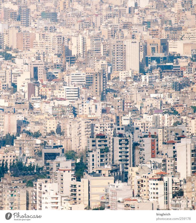 Beirut Libanon Naher und Mittlerer Osten Stadt Hauptstadt Stadtzentrum Skyline Hochhaus Häusliches Leben braun grau Farbfoto Gedeckte Farben Menschenleer Tag