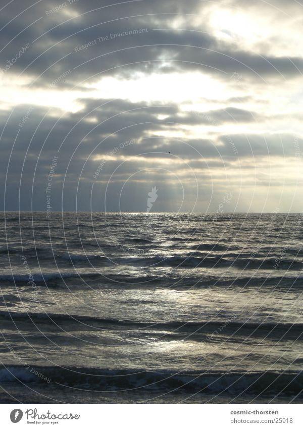 The Sun goes down Sonne Meer blau Strand Dänemark