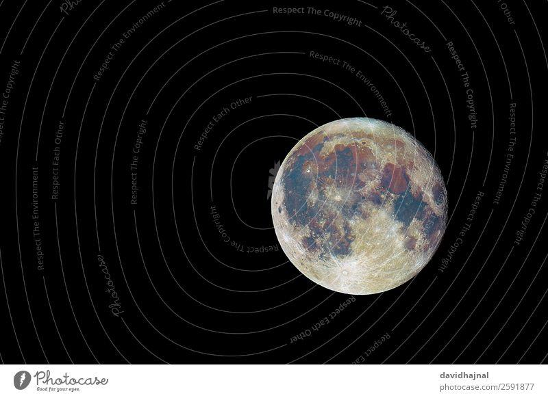 Die Farben des Mondes Technik & Technologie Wissenschaften Fortschritt Zukunft High-Tech Raumfahrt Astronomie Umwelt Natur Landschaft Urelemente Himmel