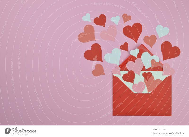 eine Liebeserklärung Valentinstag Muttertag Hochzeit Verlobung Papier Brief Post Briefumschlag Information Heiratsantrag Zeichen Herz Freundlichkeit