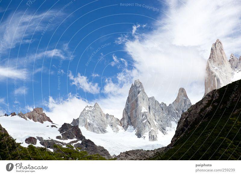Himmel Natur Ferien & Urlaub & Reisen Pflanze Farbe Sommer Landschaft Wolken Ferne Berge u. Gebirge Umwelt Schnee Tourismus Klima Abenteuer Alpen