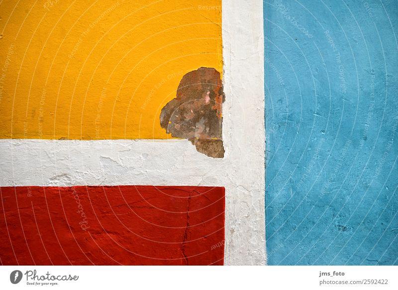 drei Farben an der Wand Ferien & Urlaub & Reisen Stadt Mauer Fassade Wohnung Beton Dorf Kuba verfallen trashig abblättern