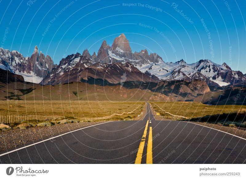 Himmel Natur Ferien & Urlaub & Reisen Farbe Sommer Landschaft Wolken Ferne Umwelt Berge u. Gebirge Straße Schnee Tourismus wandern Klima Abenteuer