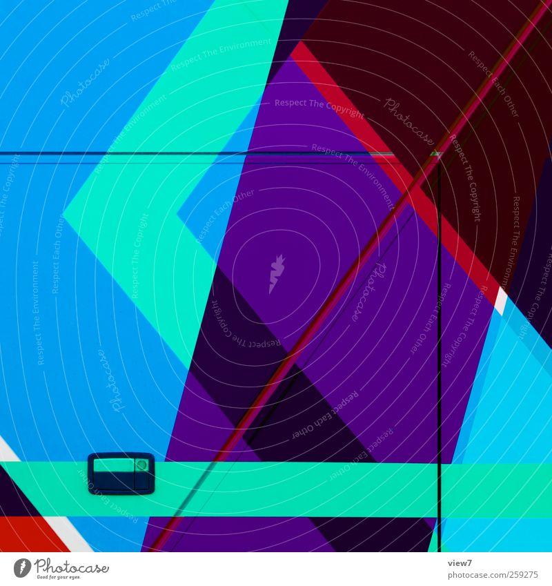 100020050 Metall Linie Zusammensein Ordnung Beginn Design modern frisch ästhetisch authentisch Streifen Hinweisschild Grafik u. Illustration einfach violett rein
