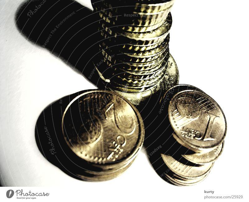 Geld Türme Geld Turm Dinge Euro Geldmünzen Cent