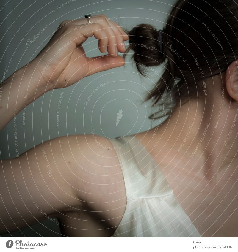 changes   pure Mensch feminin Körper Haare & Frisuren Arme Hand Finger Hals 1 Bewegung Tanzen ästhetisch schön stark Wärme wild Stimmung Lebensfreude Euphorie