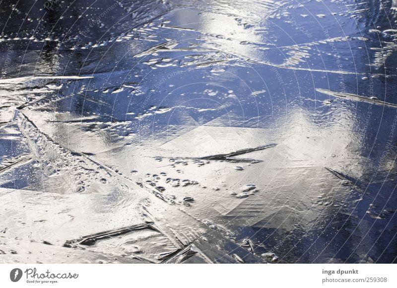 Klirrende Kälte Umwelt Natur Landschaft Urelemente Wasser Himmel Wolken Winter Klima Schönes Wetter Eis Frost Küste Seeufer Teich Bach Eisfläche gefroren