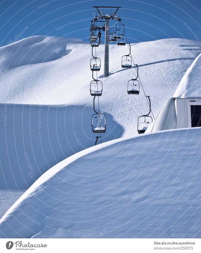 das frühe aufstehn lohnt sich! Ferien & Urlaub & Reisen Winterurlaub Skier Skipiste Umwelt Natur Landschaft Himmel Wolkenloser Himmel Schönes Wetter Eis Frost