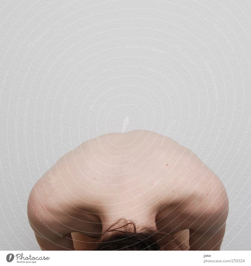nackter nacken maskulin Junger Mann Jugendliche Rücken hocken ästhetisch muskulös natürlich Akzeptanz Schutz Geborgenheit Verschwiegenheit Gelassenheit geduldig