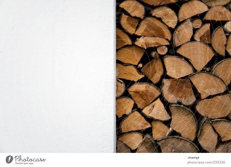 Holzwand Wand Mauer Fassade Ordnung Energiewirtschaft authentisch einfach Brennholz Rohstoffe & Kraftstoffe Erneuerbare Energie Holzstapel Nutzholz