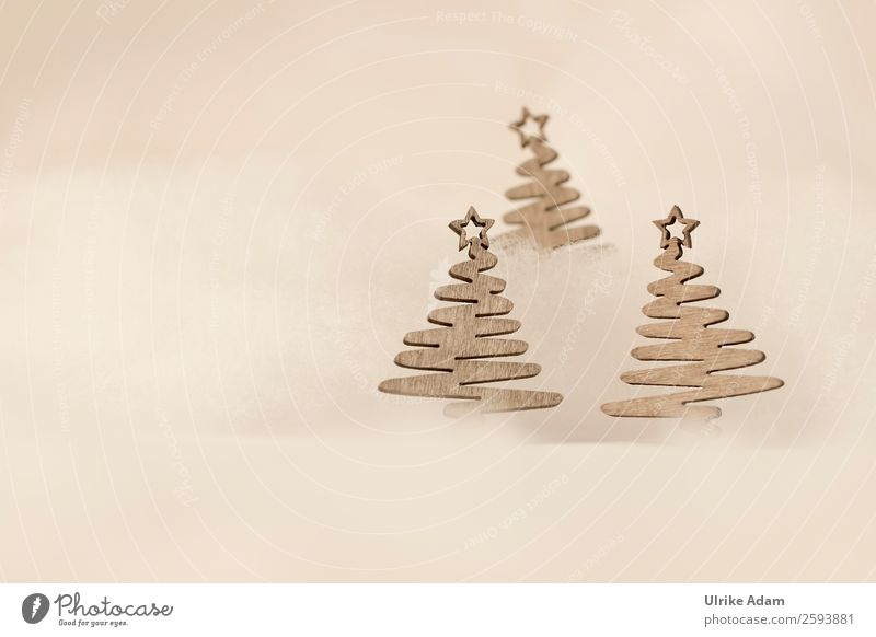 Weihnachtsmotiv Design Postkarte Feste & Feiern Weihnachten & Advent Dekoration & Verzierung Kitsch Krimskrams Holz außergewöhnlich braun Glaube beige festlich