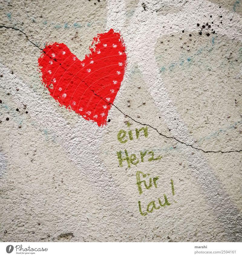 ein Herz für ... rot Graffiti Wand Liebe Gefühle Mauer Fassade Stimmung Dekoration & Verzierung Schriftzeichen Zeichen Verliebtheit Liebeskummer Wandmalereien