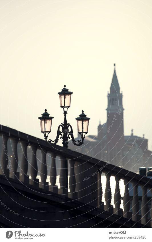 Venecian Perspective IV Ferien & Urlaub & Reisen Ferne Kunst Tourismus ästhetisch Perspektive Brücke Turm Romantik Idylle Italien Geländer Laterne Sommerurlaub